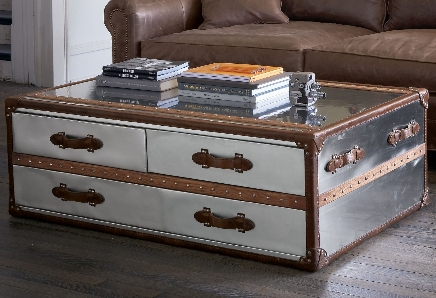 Magnificent Unique Silver Trunk Coffee Tables With Feather And Branch Trunk Thursday (Image 32 of 40)