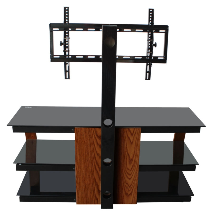 Magnificent Unique Swivel TV Stands With Mount Inside Espresso Tv Stand Rear Swivel Tilt Mount 55 Inch Tv Furniture (Image 36 of 50)