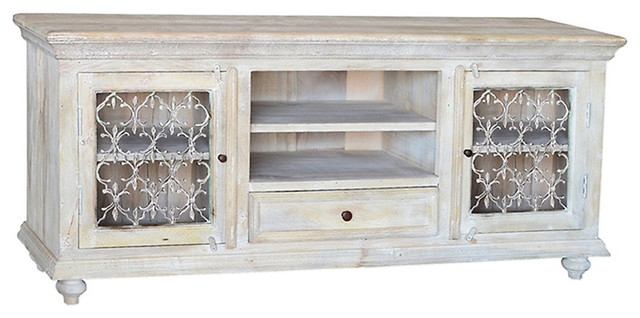 Magnificent Unique White Rustic TV Stands Pertaining To Distressed Wood Tv Stand Best Country Units Uamp Tv Stands Ebay (Image 33 of 50)