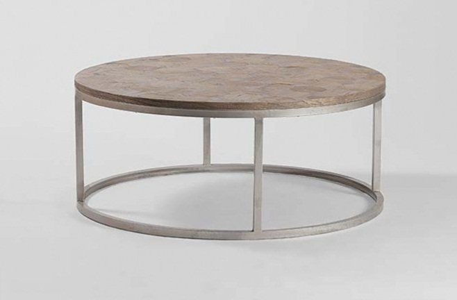 Magnificent Unique Wood Chrome Coffee Tables Throughout Round Metal Coffee Table (Image 33 of 40)