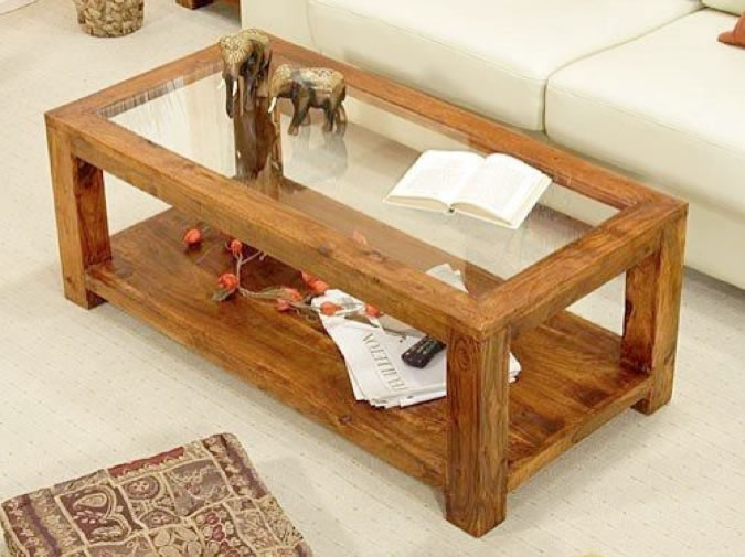 Magnificent Unique Wooden And Glass Coffee Tables In Living Room Great Top Wood Glass Coffee Table Astounding And With (View 11 of 50)