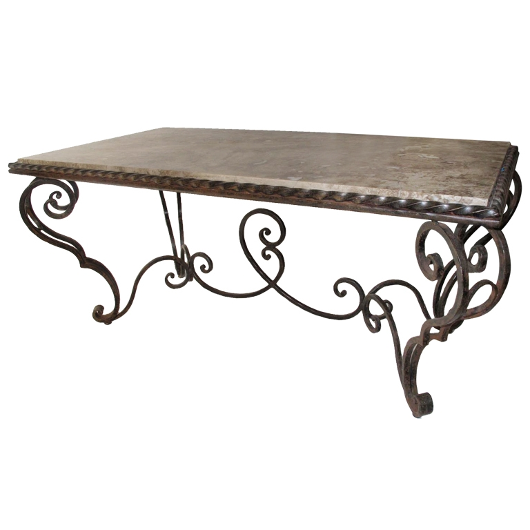 Magnificent Unique Wrought Iron Coffee Tables Intended For Iron Coffee Table (Image 35 of 50)