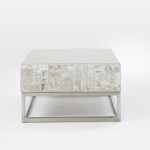 Magnificent Variety Of Chrome Coffee Tables In Concrete Chrome Coffee Table West Elm (Image 37 of 50)
