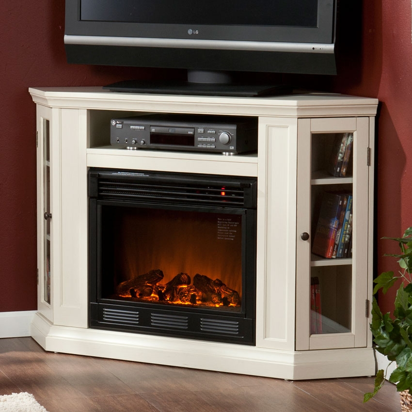 Magnificent Variety Of Compact Corner TV Stands Pertaining To Beautiful Electric Fireplace Corner Images Awesome Home Design (View 26 of 50)