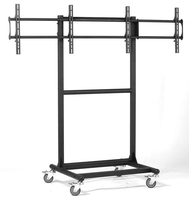 Magnificent Variety Of Dual TV Stands Throughout Tv Av Audio Visual Flat Panel Carts Presentation Cart (Image 36 of 50)