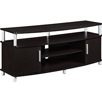 Magnificent Variety Of Espresso TV Cabinets Regarding Amazon We Furniture 58 Wood Tv Stand Storage Console (Image 38 of 50)