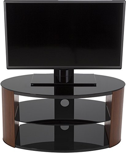 Magnificent Variety Of Oval Glass TV Stands With Avf Fs800reew Reed Oval Glass Tv Stand For 24 Inch 26 Amazonco (View 33 of 50)