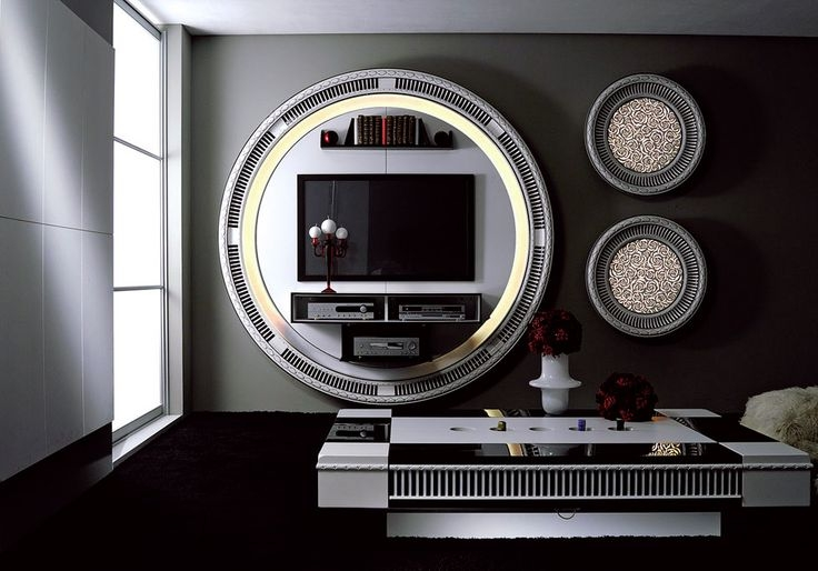 Magnificent Variety Of Round TV Stands Regarding Tv Stand With Round Shape Body Light And Coffee Table Which Is (Image 41 of 50)
