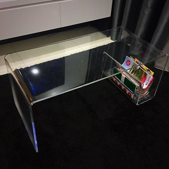 Magnificent Well Known Acrylic Coffee Tables With Magazine Rack Inside Muji Acrylic Coffee Table With Magazine Rack Furniture Home On (View 5 of 40)