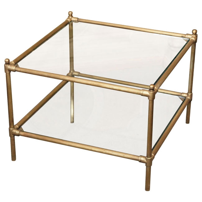 Magnificent Well Known Antique Brass Glass Coffee Tables Regarding Vintage Brass Tray Coffee Table Coffeetablesmartin Tables (Image 38 of 50)