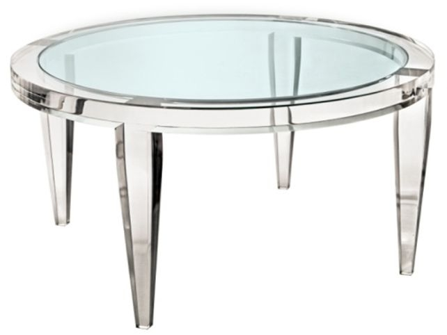 Magnificent Wellknown Ava Coffee Tables With Latest Alluring Round Acrylic Coffee Table Ava Modern Round Clear (View 44 of 50)