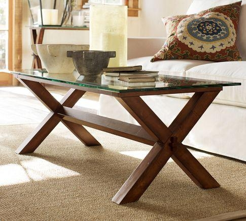 Magnificent Well Known Ava Coffee Tables With Wood Coffee Table Espresso Stain Pottery Barn (Image 38 of 50)