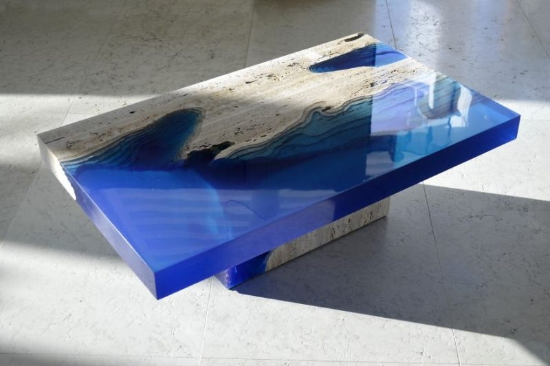 Magnificent Wellknown Blue Coffee Tables Inside Lagoon Table Brings Piece Of Ocean In Your Modish Living (Image 40 of 50)