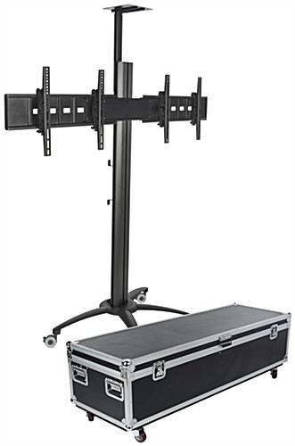 Magnificent Well Known Dual TV Stands For Rolling Dual Tv Stands Cable Management System (Image 37 of 50)