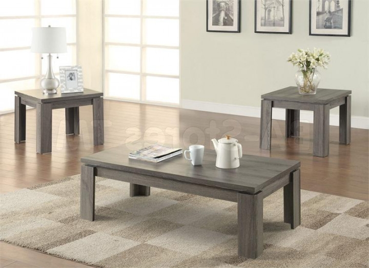 Magnificent Wellknown Grey Coffee Table Sets With Gray Wood Coffee Table (Image 40 of 50)