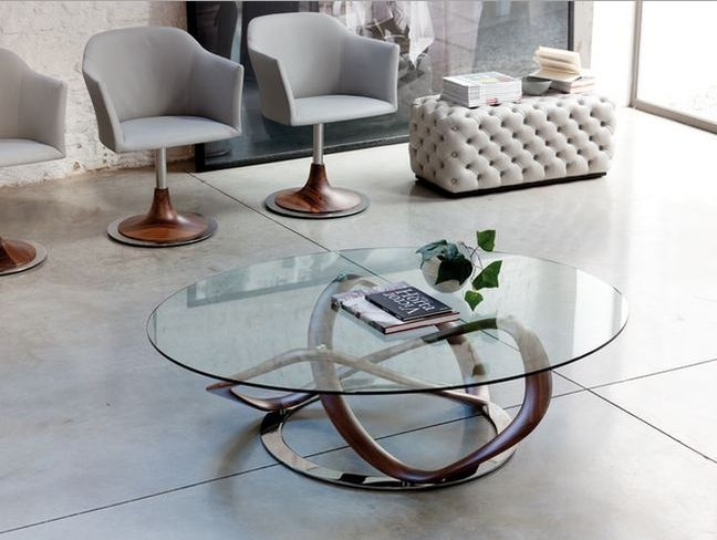 Magnificent Wellknown Metal And Glass Coffee Tables Regarding Modern Round Glass Coffee Table Starrkingschool (View 46 of 50)