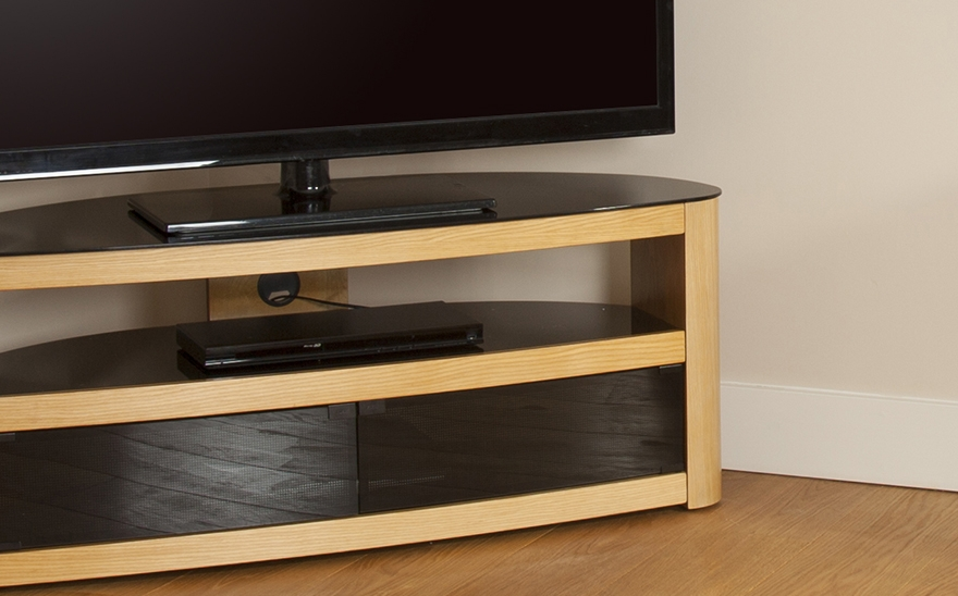 Magnificent Wellknown Oak Veneer TV Stands Pertaining To Buy Avf Burghley Tv Stand Free Delivery Currys (View 36 of 50)