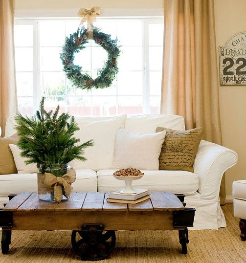 Magnificent Well Known Rustic Christmas Coffee Table Decors Within 49 Best Christmas Family Room Images On Pinterest (Image 38 of 50)