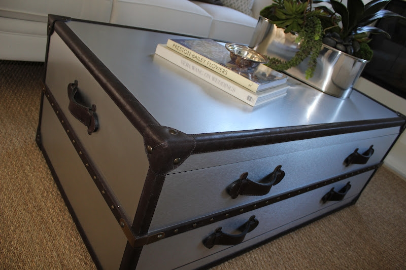 Magnificent Well Known Silver Trunk Coffee Tables Intended For Glass Top Steamer Trunk Coffee Table Coffeetablesmartin (Image 33 of 40)