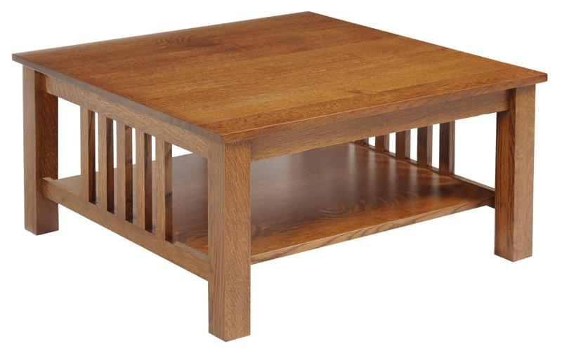 Magnificent Wellknown Square Oak Coffee Tables Pertaining To Living Room Great Prairie Mission Square Coffee Table Within Style (Image 36 of 50)