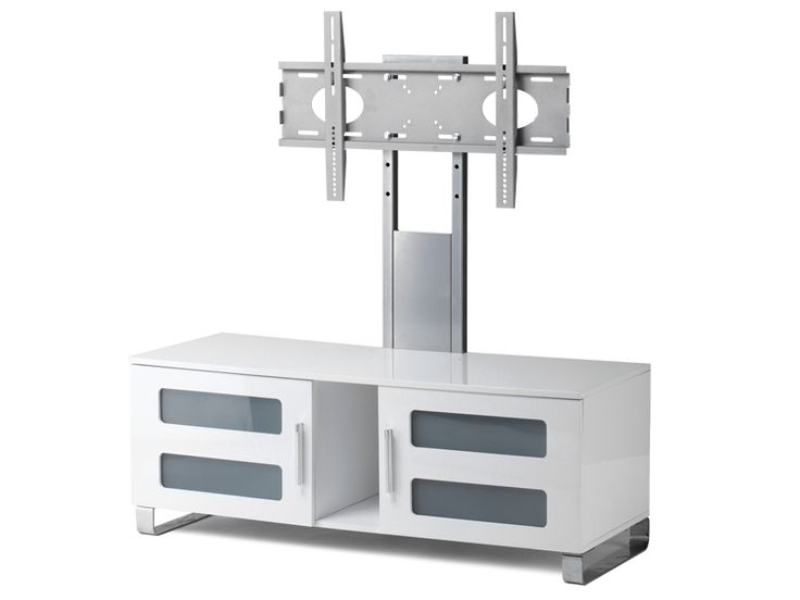 Magnificent Wellknown Stil TV Stands Regarding Stil Stand High Gloss White Cantilever Tv Stand Up To 50 Stuk (View 12 of 49)
