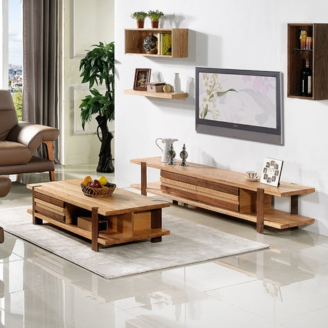 Magnificent Well Known TV Stand Coffee Table Sets Pertaining To Online Get Cheap Wooden Tv Tables Aliexpress Alibaba Group (View 28 of 50)