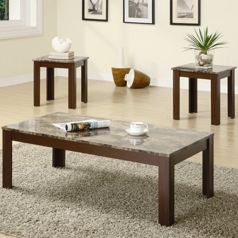 Magnificent Wellknown Wayfair Coffee Table Sets Throughout Charlton Home Colmer 3 Piece Coffee Table Set In Brown Reviews (Image 34 of 50)