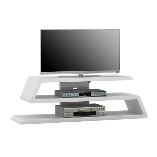 Magnificent Well Known White Gloss Corner TV Stands Inside Louisiana White High Gloss Finish Plasma Tv Stand (View 4 of 50)