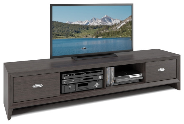Magnificent Wellliked Bench TV Stands In Lakewood Extra Wide Tv Bench Modern Wenge Finish Transitional (Image 38 of 50)