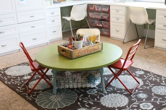 Magnificent Wellliked Kids Coffee Tables With Playroom Table Update The Pleated Poppy (Image 43 of 50)