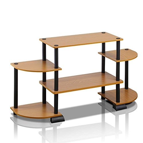 Magnificent Wellliked Light Cherry TV Stands Pertaining To Amazon Furinno 12258lcbk Turn N Tube Rounded Corner Tv (Image 40 of 50)