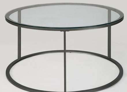 Magnificent Wellliked Metal Round Coffee Tables Inside Round Coffee Table Glass Jerichomafjarproject (View 29 of 50)
