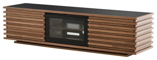 Magnificent Wellliked Modern Walnut TV Stands Inside Modrest Fiorano Contemporary Walnut Tv Stand Entertainment (Image 38 of 50)