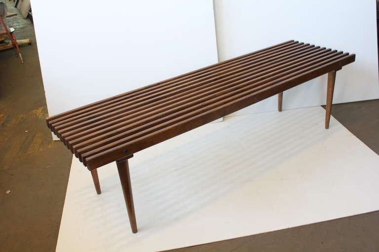 Magnificent Wellliked Nelson Coffee Tables For Mid Century George Nelson Style Wood Slat Benchcoffee Table At (Image 31 of 50)