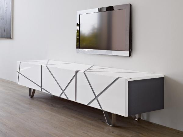 Magnificent Wellliked Oak Veneer TV Stands Within White Tv Units Tv Stands Modern Furniture Trendy Productscouk (View 44 of 50)