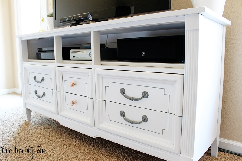 Magnificent Wellliked Painted TV Stands In Dresser Turned Tv Stand Two Twenty One (Image 38 of 50)