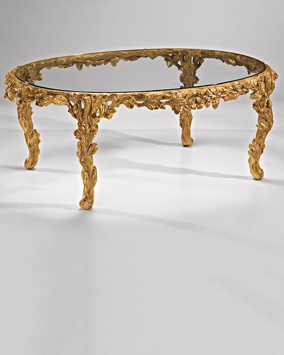 Magnificent Wellliked Retro Glass Coffee Tables Throughout Oval Gold Coffee Tables Lillian August Lillian August Logan (Image 40 of 50)