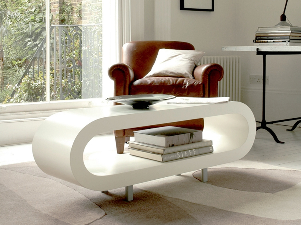 Magnificent Wellliked Retro White Coffee Tables For Loopy Retro Coffee Table Matt White Coffee Tables (Image 35 of 50)