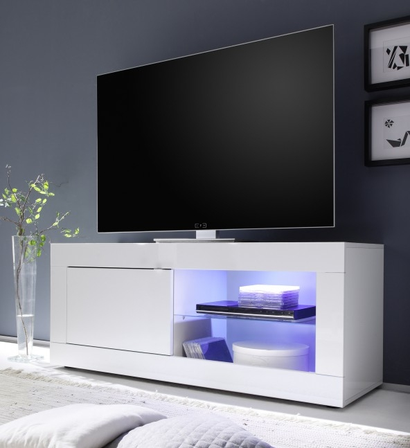 Magnificent Wellliked Small White TV Stands Pertaining To Basic Small Tv Stand All White Buy Online At Best Price Sohomod (Image 35 of 50)