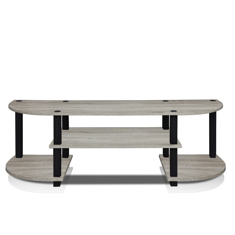 Magnificent Wellliked White Oval TV Stands Throughout Black Tv Stands Youll Love Wayfair (Image 42 of 50)