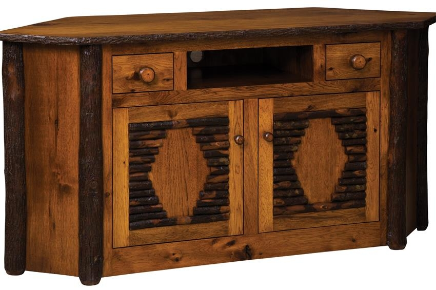 Magnificent Wellliked Wooden Corner TV Stands With Rustic Corner Tv Stand (Image 39 of 50)