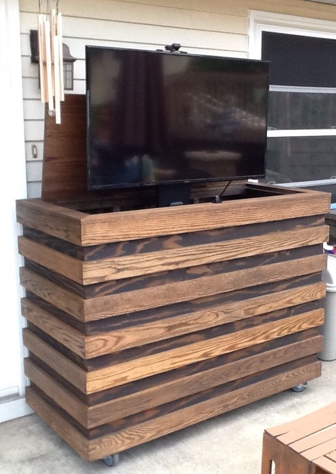 Magnificent Wellliked Wooden TV Stands With Wheels For Best 25 Outdoor Tv Stand Ideas On Pinterest Magnolia Market (Image 40 of 50)