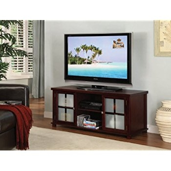 Magnificent Widely Used Cherry Wood TV Stands Intended For Amazon Kings Brand E4818 Wood Plasma Tv Stand Entertainment (Image 40 of 50)