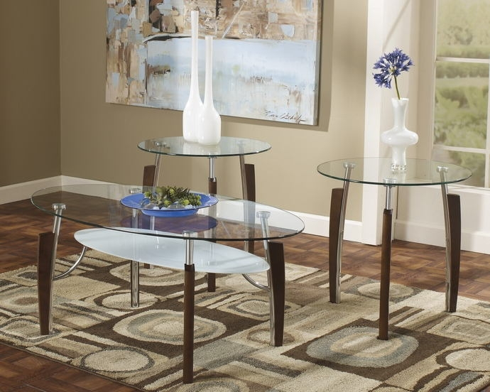 Magnificent Widely Used Chrome And Wood Coffee Tables Regarding 3 Pc Avani Collection (Image 36 of 50)