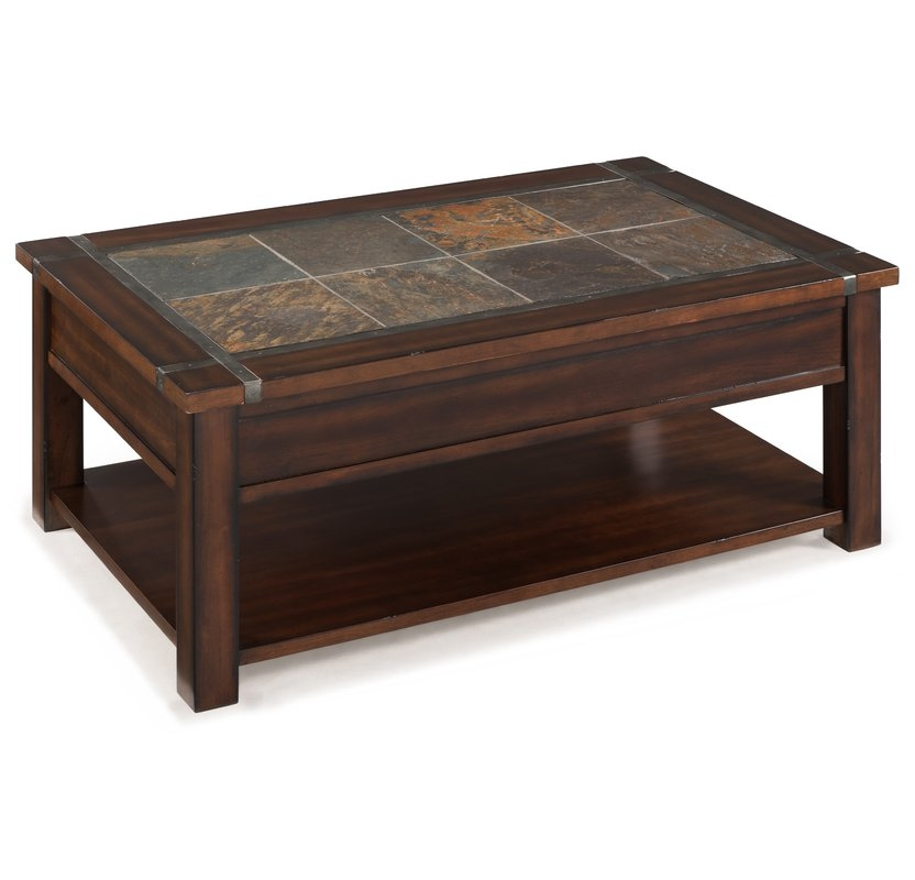 Magnificent Widely Used Coffee Table With Raised Top Inside Magnussen Roanoke Coffee Table With Lift Top And Caster Reviews (Image 39 of 50)