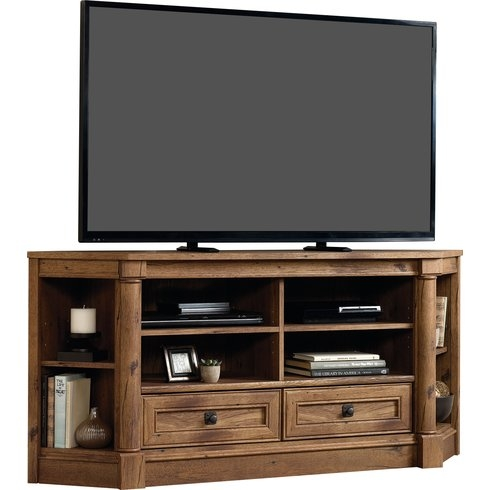Magnificent Widely Used Corner TV Stands With Dar Home Co Sagers Corner Tv Stand Reviews Wayfair (Image 36 of 50)