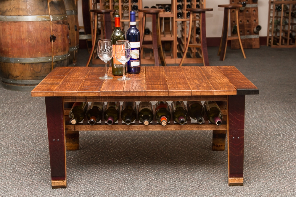 Magnificent Widely Used Country Coffee Tables Inside Wine Country Coffee Table Uniquely Practical (Image 36 of 50)