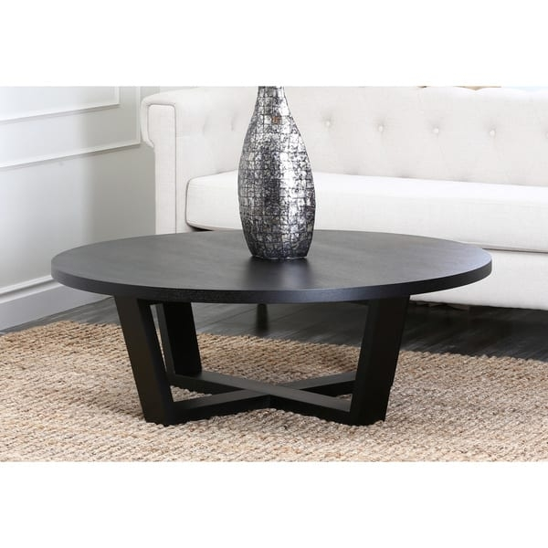 Magnificent Widely Used Espresso Coffee Tables With Regard To Abson Wilshire Round Espresso Coffee Table Free Shipping Today (Image 36 of 50)