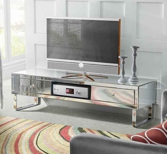 Magnificent Widely Used Mirrored TV Stands Pertaining To Best 10 Silver Tv Stand Ideas On Pinterest Industrial Furniture (View 8 of 50)
