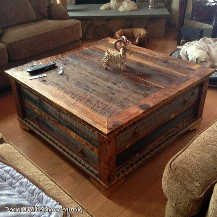 Magnificent Widely Used Square Coffee Tables With Storages Inside Fancy Rustic Square Coffee Table Benchwright Square Coffee Table (View 15 of 50)